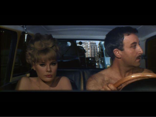 Green Hornet_A Shot in the Dark_Maria Gambrelli and Inspector Clouseau_car scene (4)_ep60
