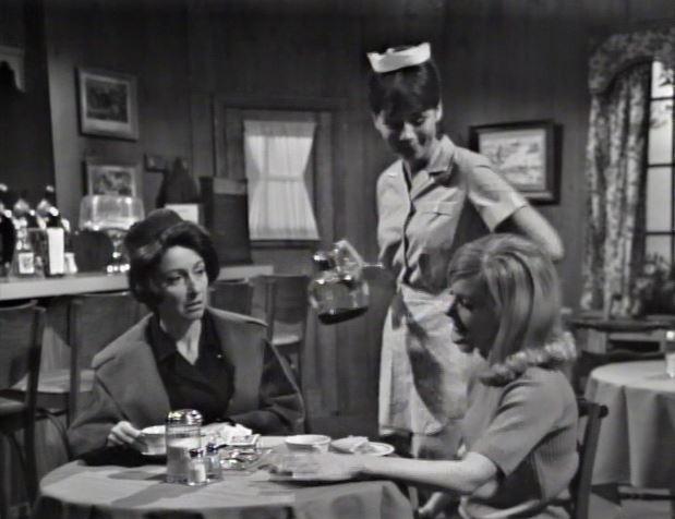 Food & Drink in Collinsport_Carolyn asks about Burke Devlin as Maggie brings coffee and apple pie (2)_ep72